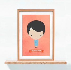 Ilustracion Personalizada Mamá