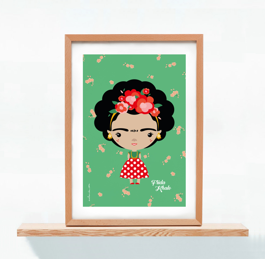 Lámina Frida Khalo